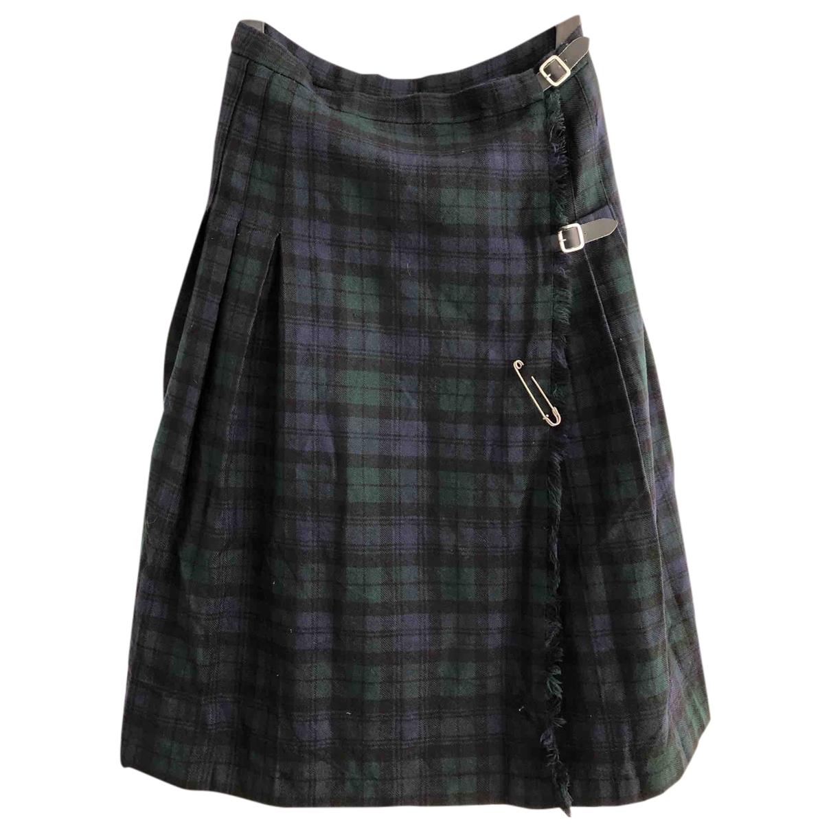 - Jupe Oversize pour femme en laine - multicolore