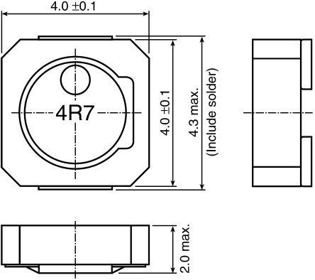 TDK , VLCF Shielded Wire-wound SMD Inductor 1.8 μH ±30% Wire-Wound 2.37A Idc (5)