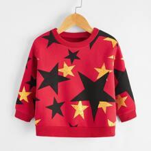 Sweatshirt mit Stern Muster