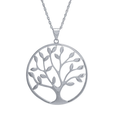 Womens Sterling Silver Pendant Necklace, One Size , No Color Family