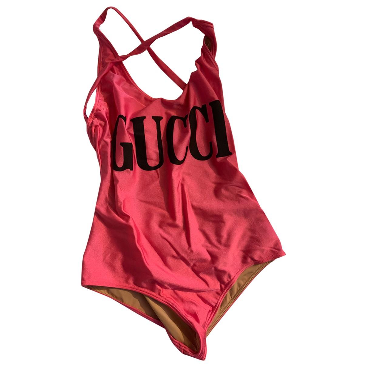 Gucci \N Pink Lycra Swimwear for Women S International