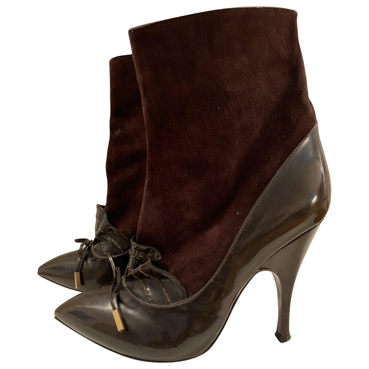 Marc Jacobs \N Brown Leather Ankle boots for Women 37 EU