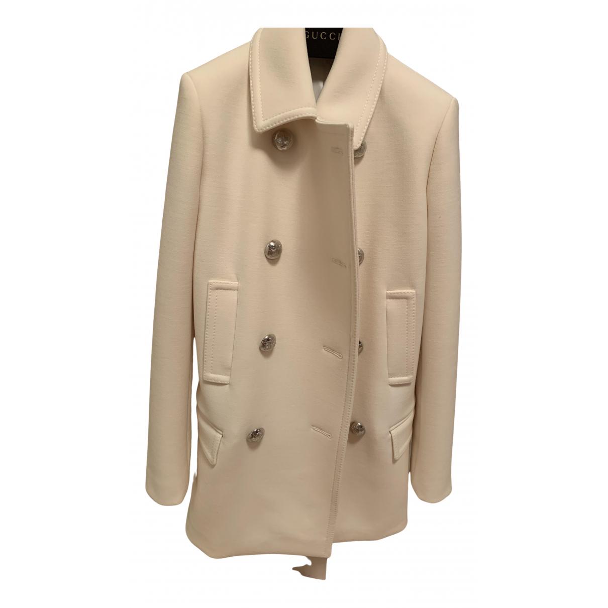 Gucci - Manteau   pour femme en laine - blanc