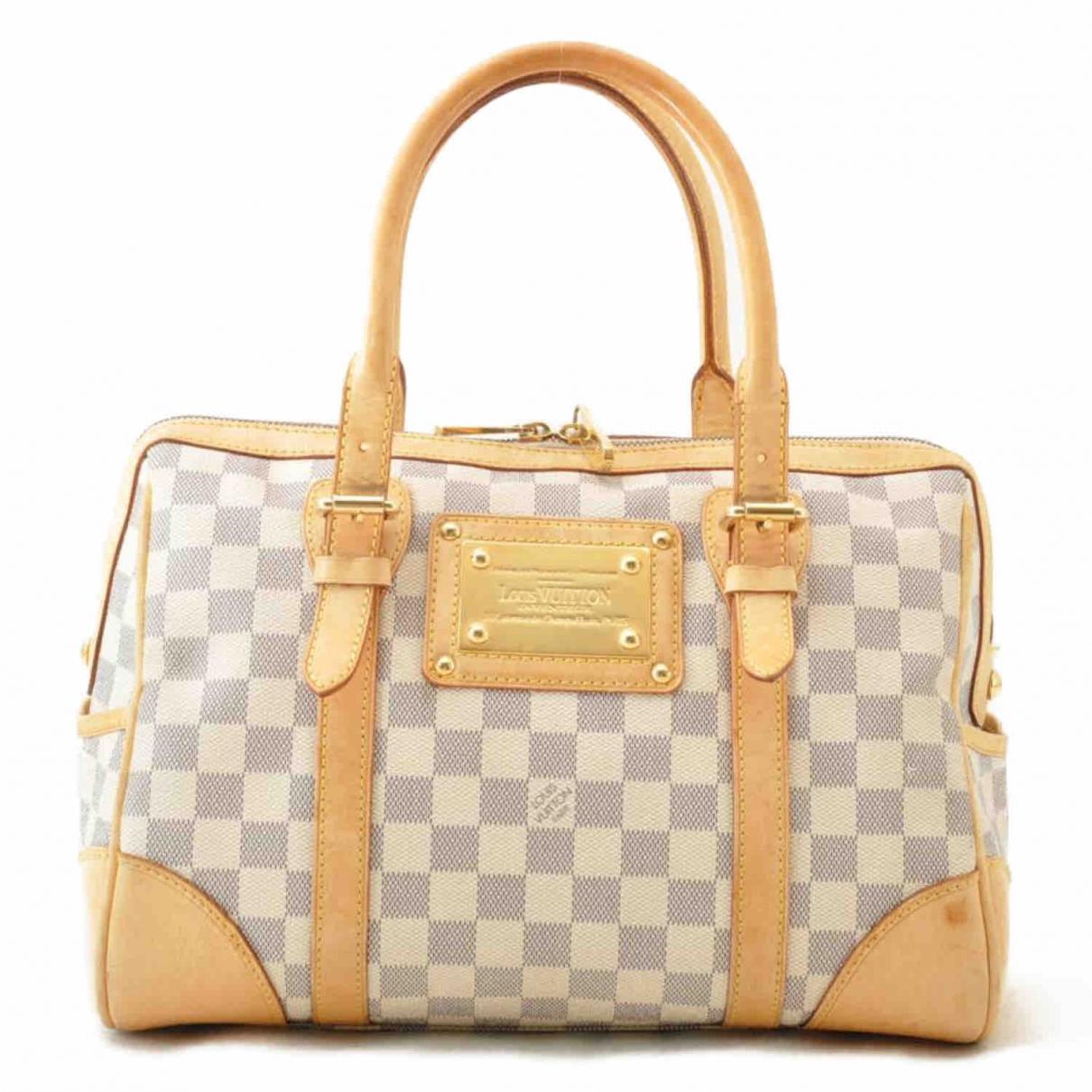 Louis Vuitton Berkeley Handtasche in  Blau Leinen