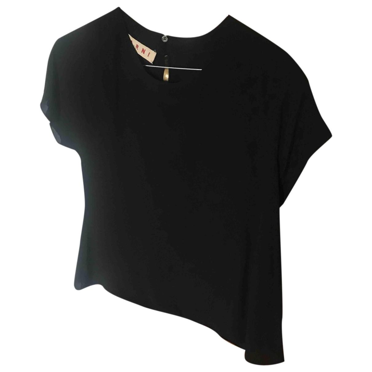 Marni - Top   pour femme en soie - noir