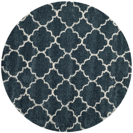 Safavieh Hudson Shag Collection Synthia Geometric Round Area Rug, One Size , Multiple Colors