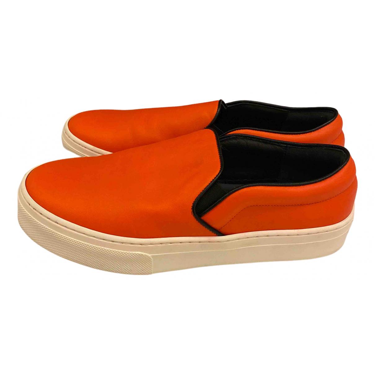 Celine \N Espadrilles in  Orange Leder