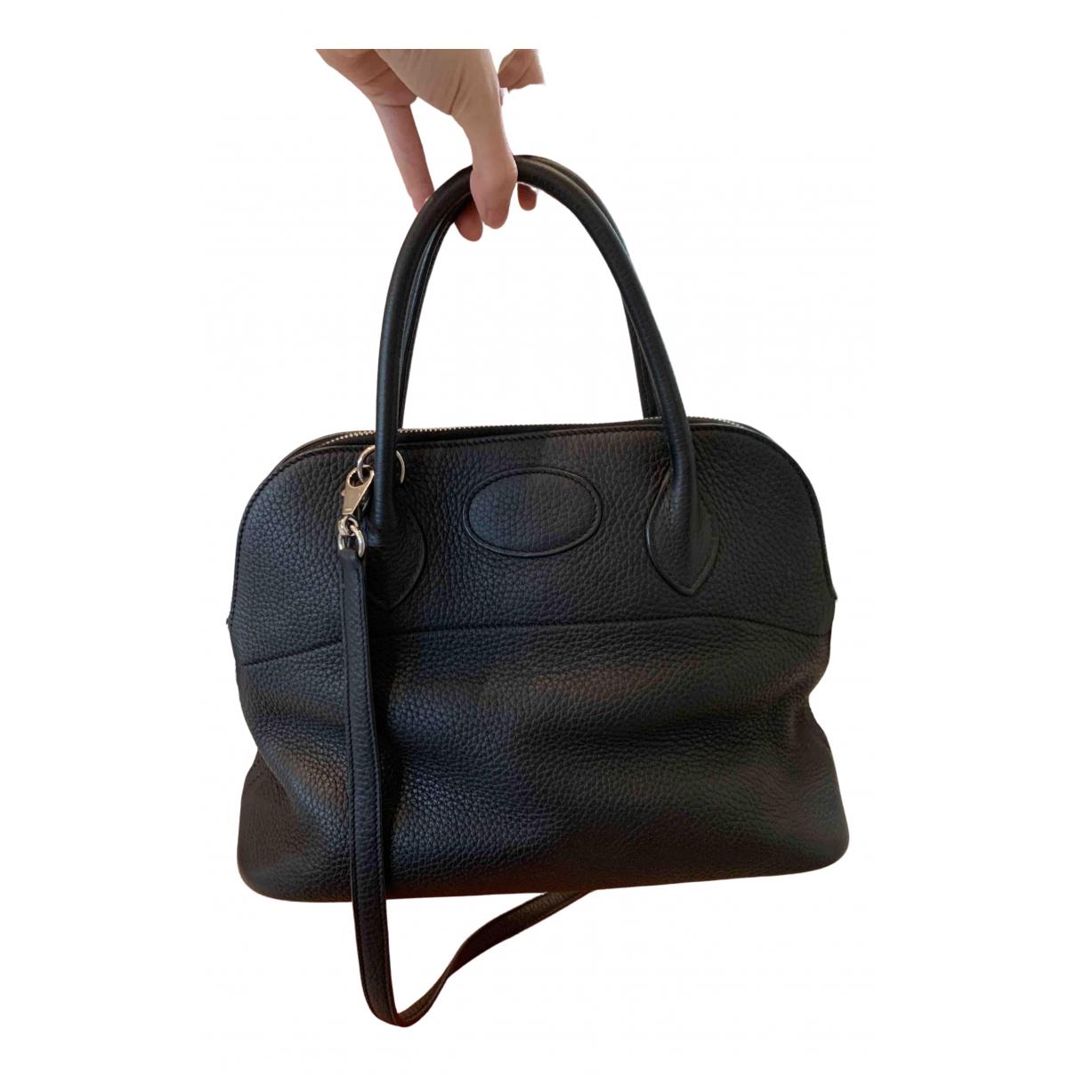 Hermes Bolide Handtasche in  Schwarz Leder