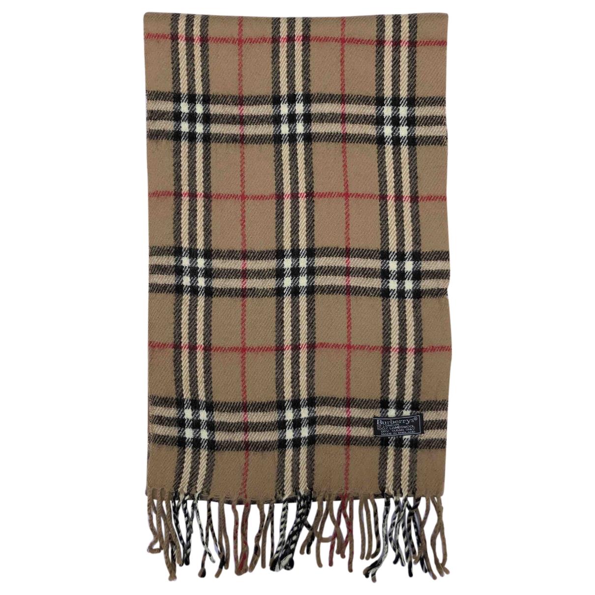 Burberry \N Schal in  Braun Wolle