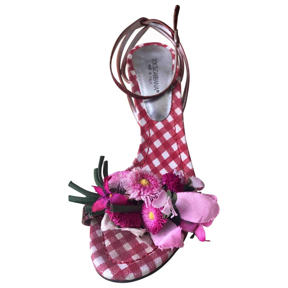Dolce & Gabbana \N Red Water snake Sandals for Women 38.5 EU
