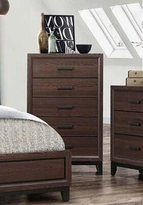 Shiloh Collection SH176-CH Chest with 5 Drawers Brown
