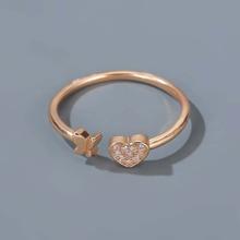 Heart & Butterfly Decor Ring