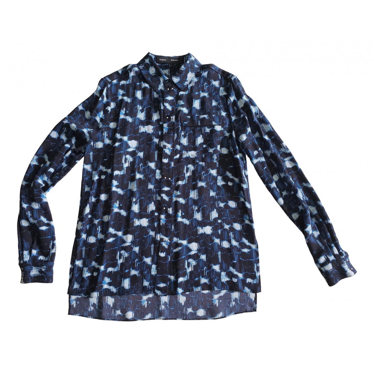 Proenza Schouler - Top   pour femme en soie - bleu