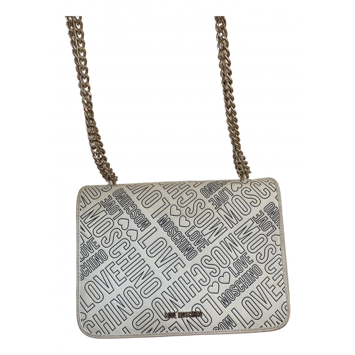 Moschino Love \N White Leather handbag for Women \N