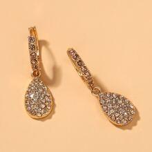 Rhinestone Waterdrop Drop Earrings