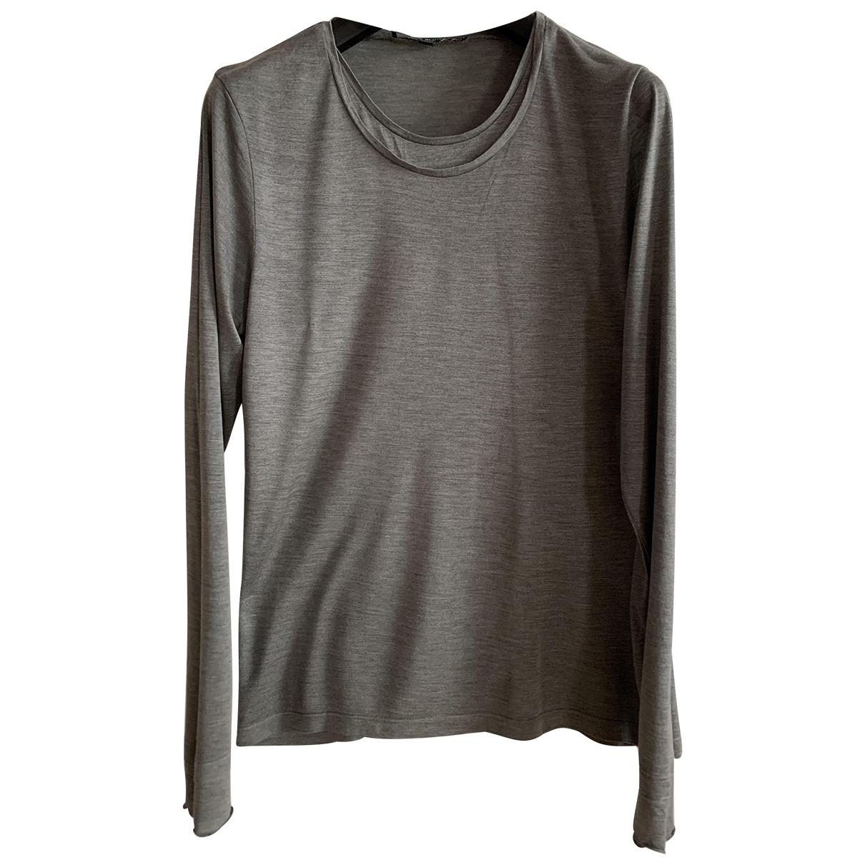 Neil Barrett \N Grey Silk T-shirts for Men M International