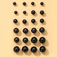 12 Paare Ohrstecker mit rundem Ball