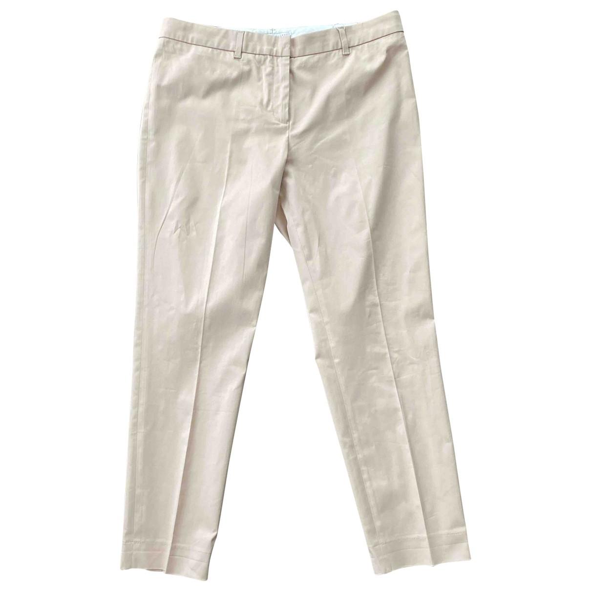Fabiana Filippi \N Beige Cotton Trousers for Women 44 IT