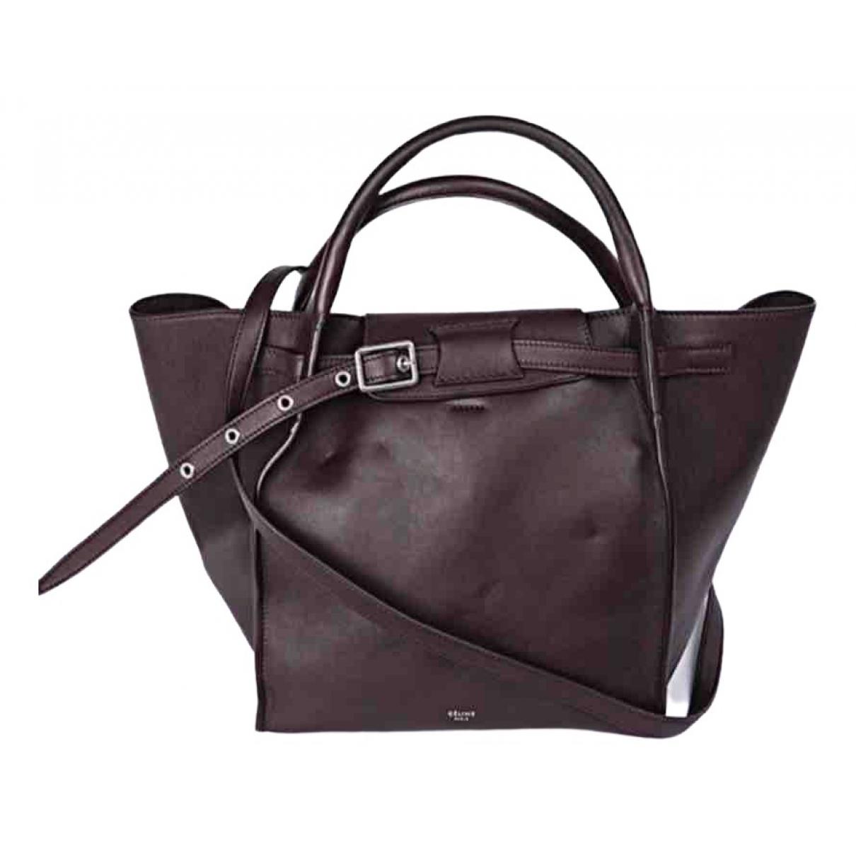 Celine Big Bag Burgundy Leather handbag for Women \N