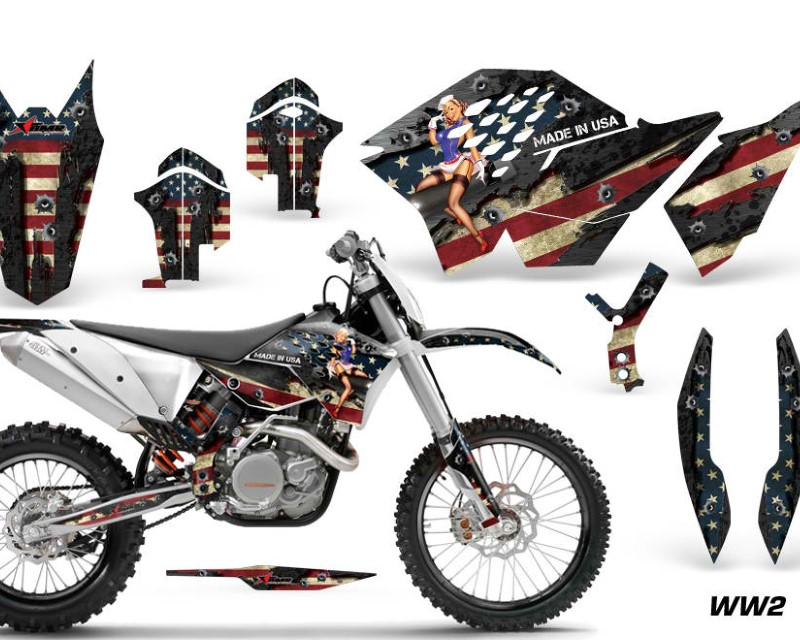 AMR Racing Dirt Bike Graphics Kit Decal Wrap For KTM SX/XCR-W/EXC/XC/XC-W/XCF-W 2007-2011áWW2 BOMBER