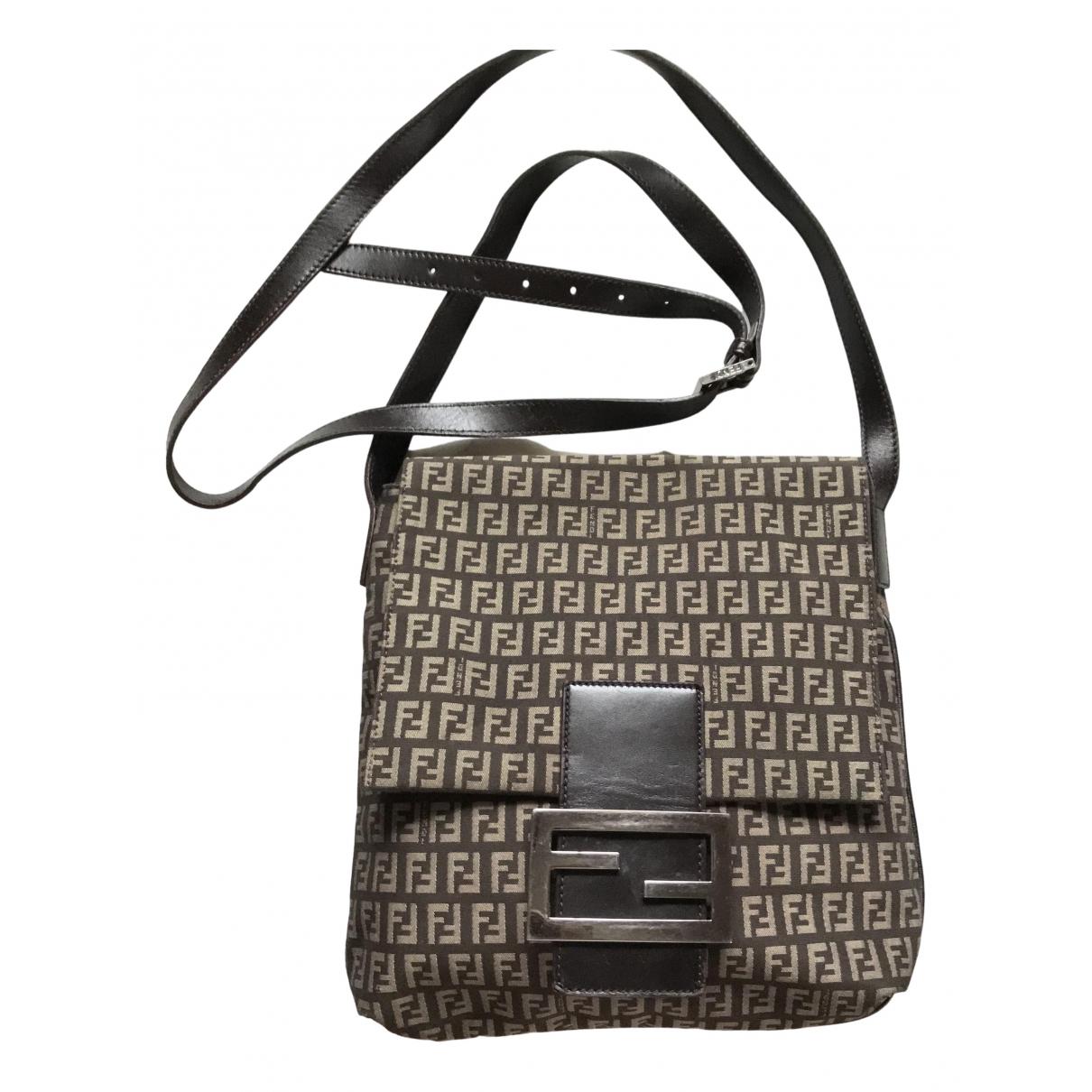 Fendi Baguette Brown Cotton handbag for Women \N