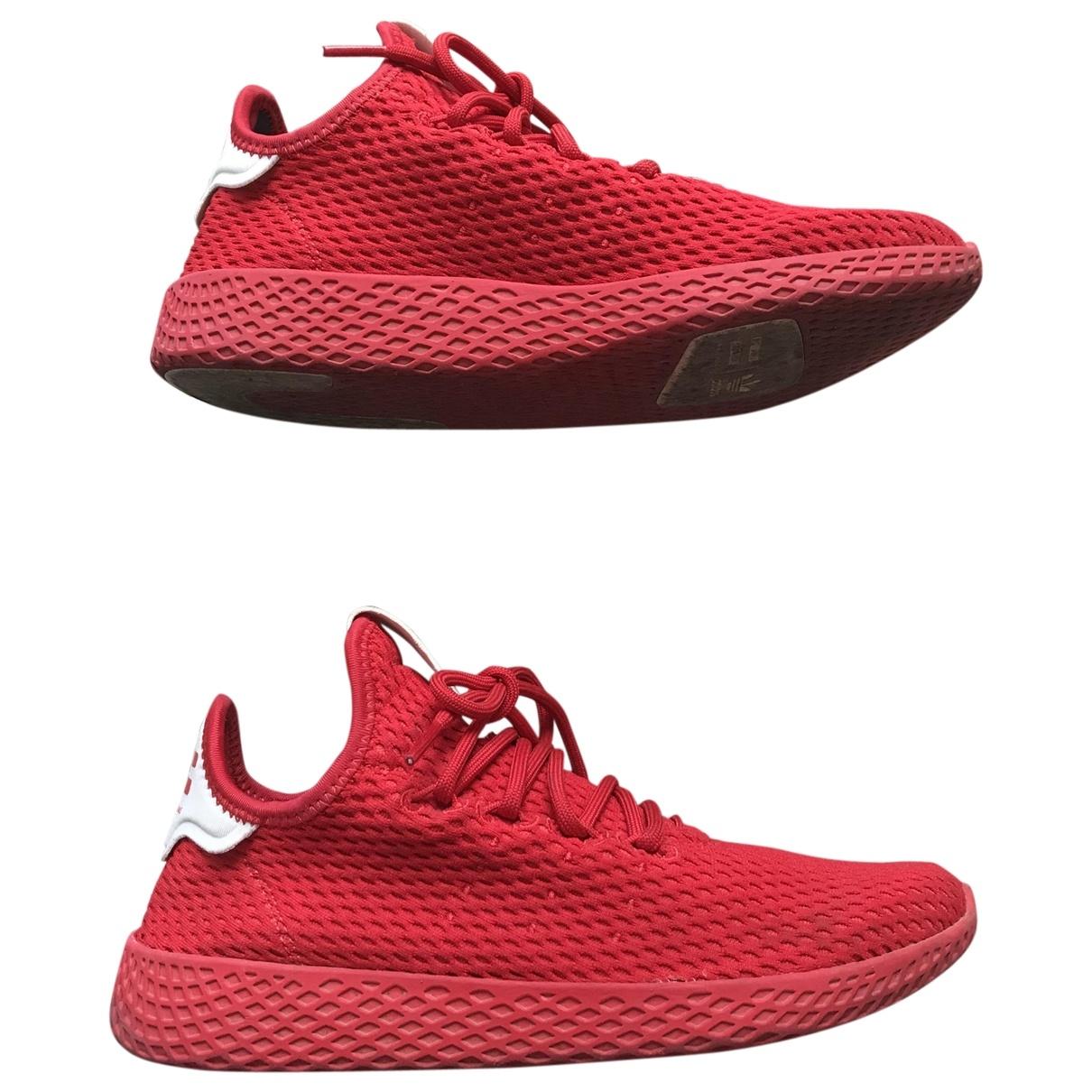Adidas X Pharrell Williams \N Red Cloth Trainers for Women 37.5 EU