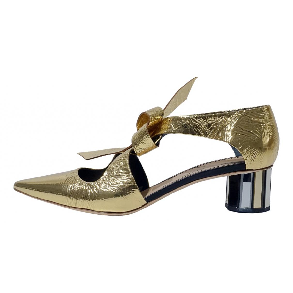 Proenza Schouler \N Sandalen in  Gold Leder