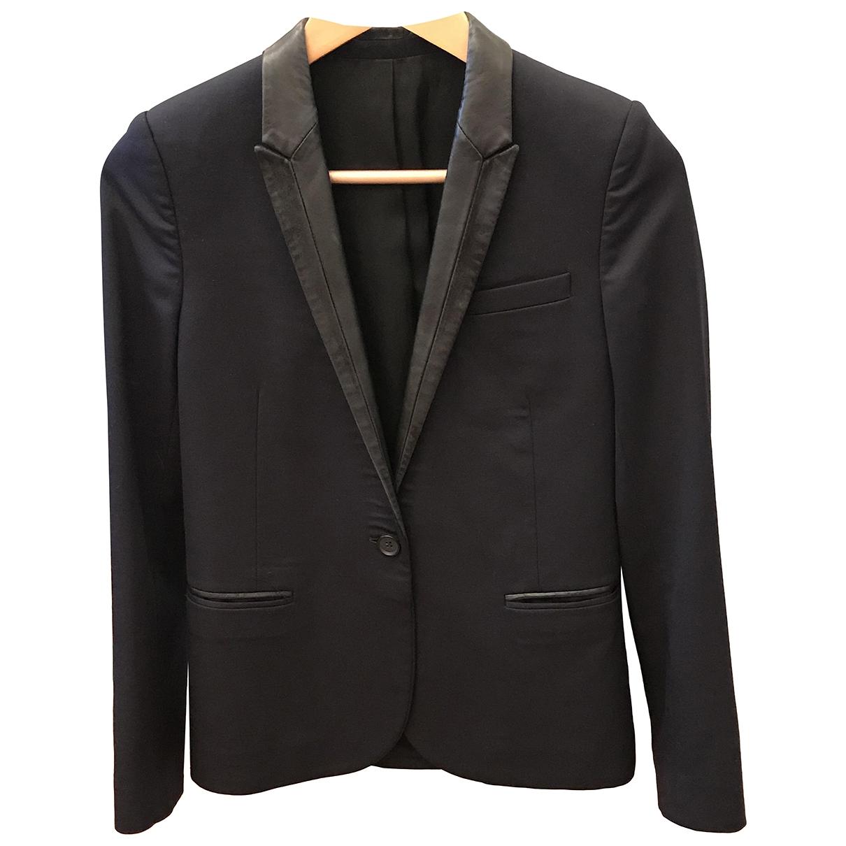 The Kooples \N Navy Wool jacket for Women 34 FR