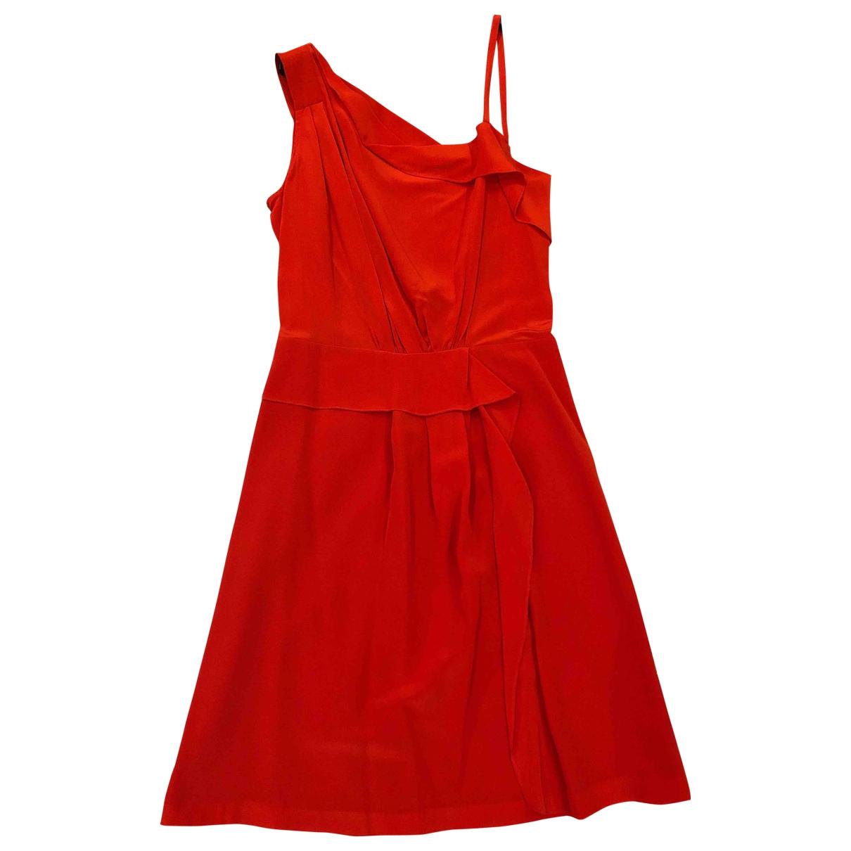 Max & Co - Robe   pour femme en soie - rouge