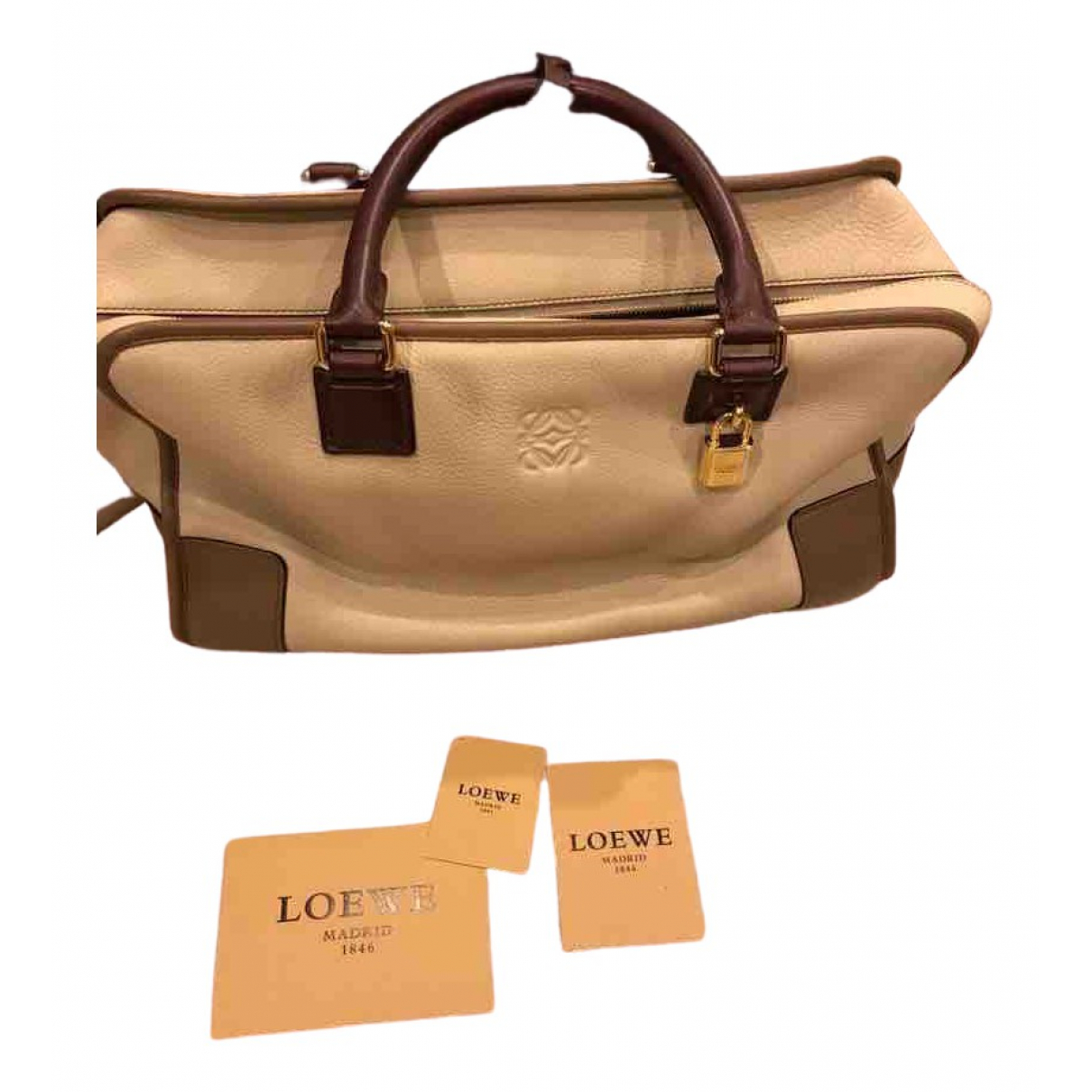 Loewe Amazona Beige Leather handbag for Women \N