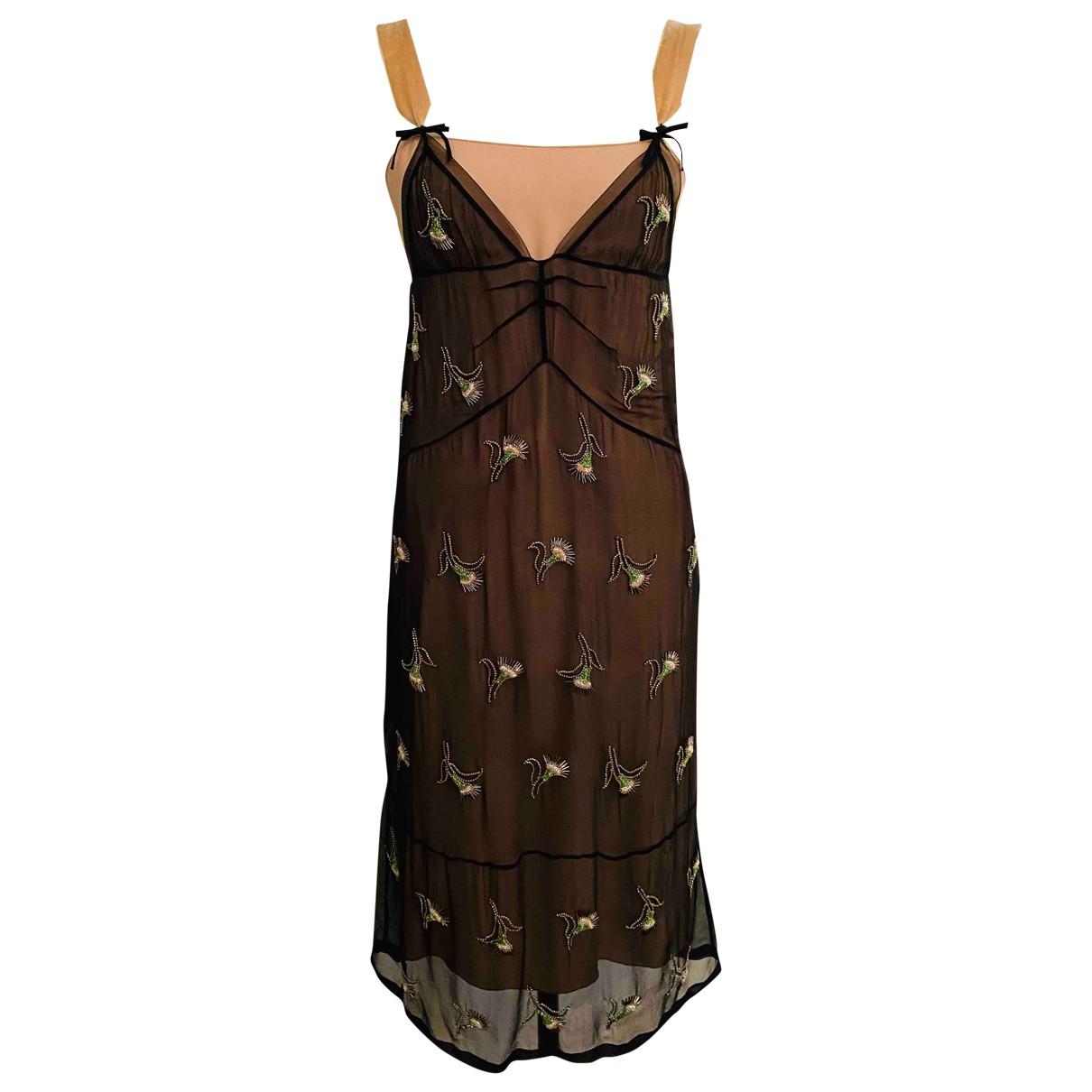 N°21 \N Black Silk dress for Women 40 IT