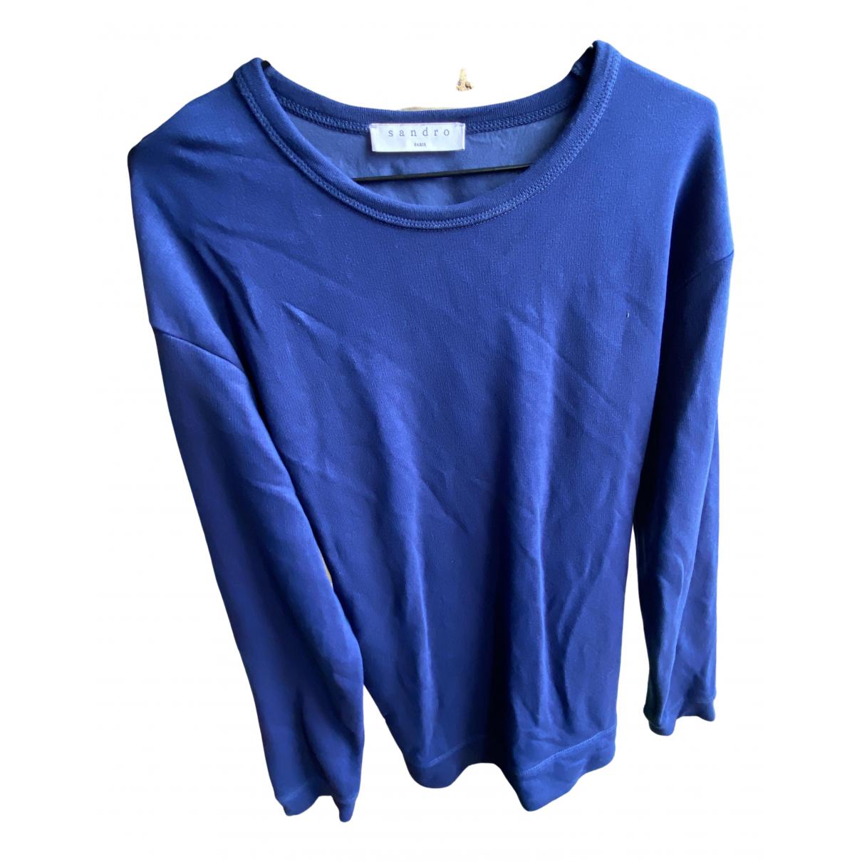 Sandro Fall Winter 2019 Blue Silk Knitwear for Women 38 FR