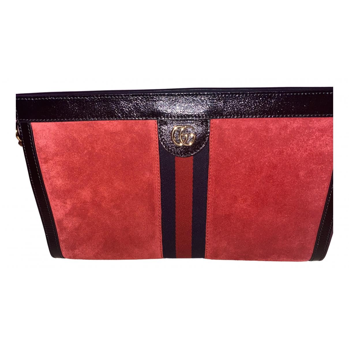 Gucci N Red Suede Clutch bag for Women N
