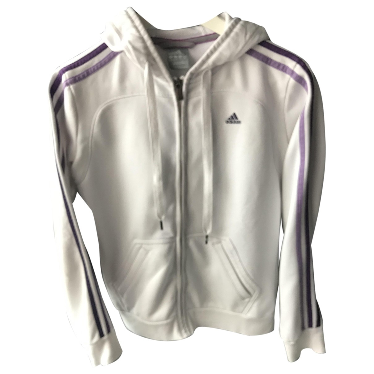 Adidas - Veste   pour femme en coton - blanc