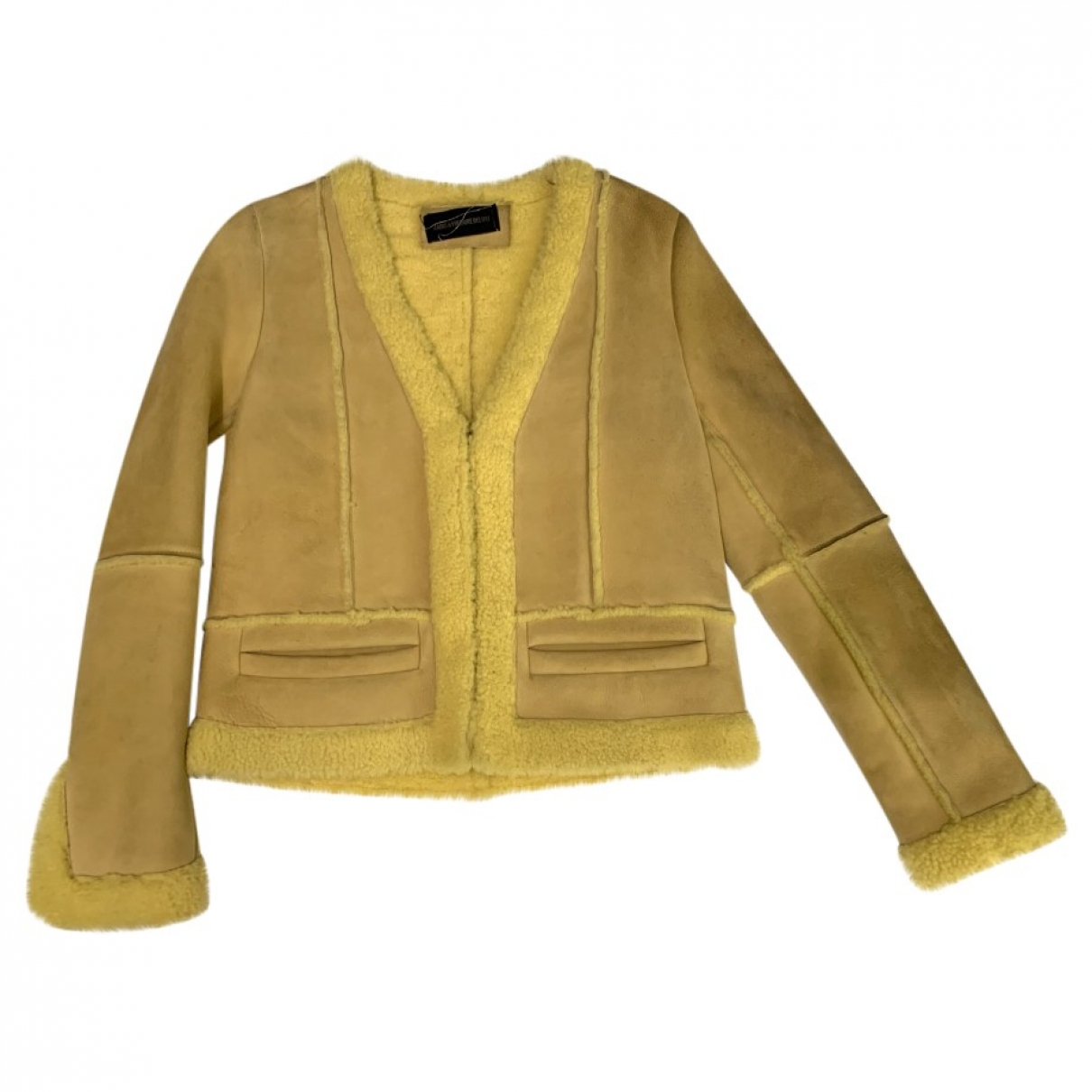 Zadig & Voltaire \N Yellow Suede jacket for Women S International