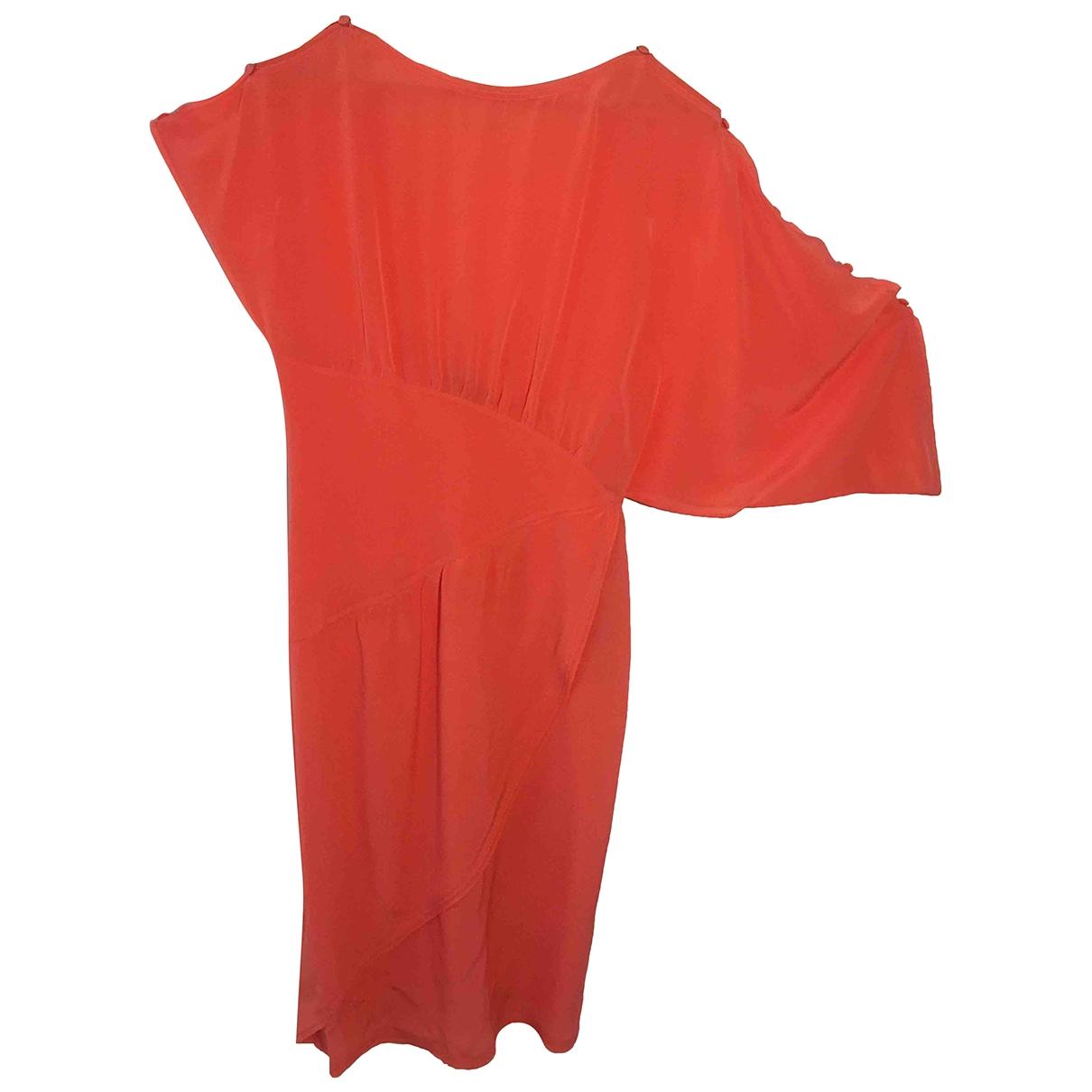 Fendi \N Kleid in  Orange Seide