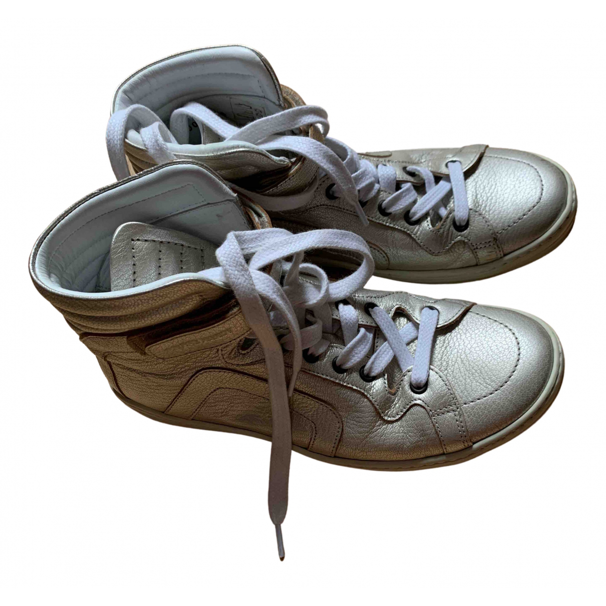 Pierre Hardy - Baskets   pour femme en cuir - dore