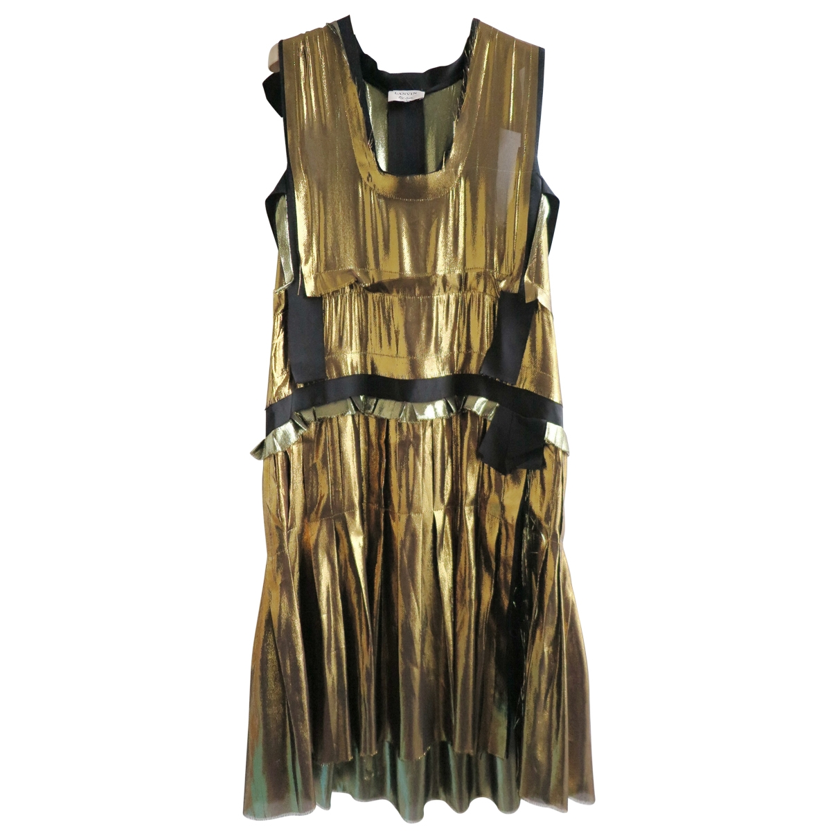 Lanvin \N Kleid in  Gold Seide