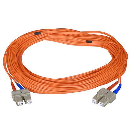 Fiber Optic Cable, SC/SC, Multi Mode, Duplex 15 Meter (62.5/125 Type) - Orange - Monoprice®