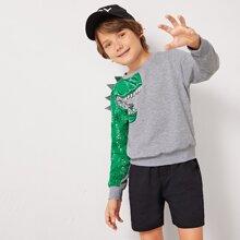 Jungen Sweatshirt mit Dinosauier Muster