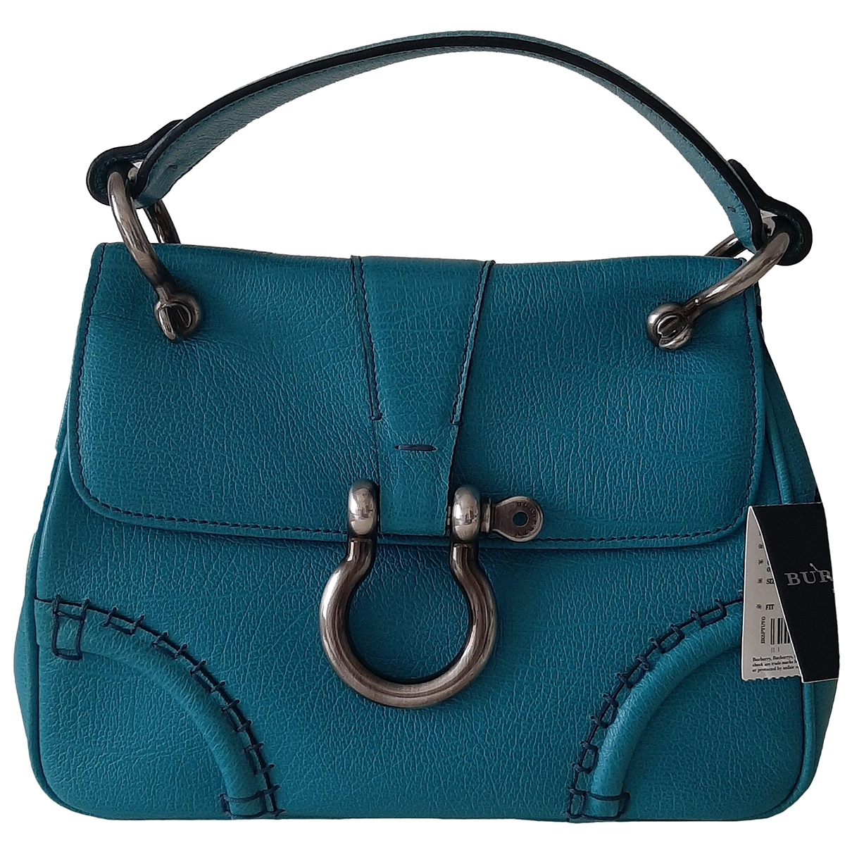 Burberry \N Turquoise Leather handbag for Women \N