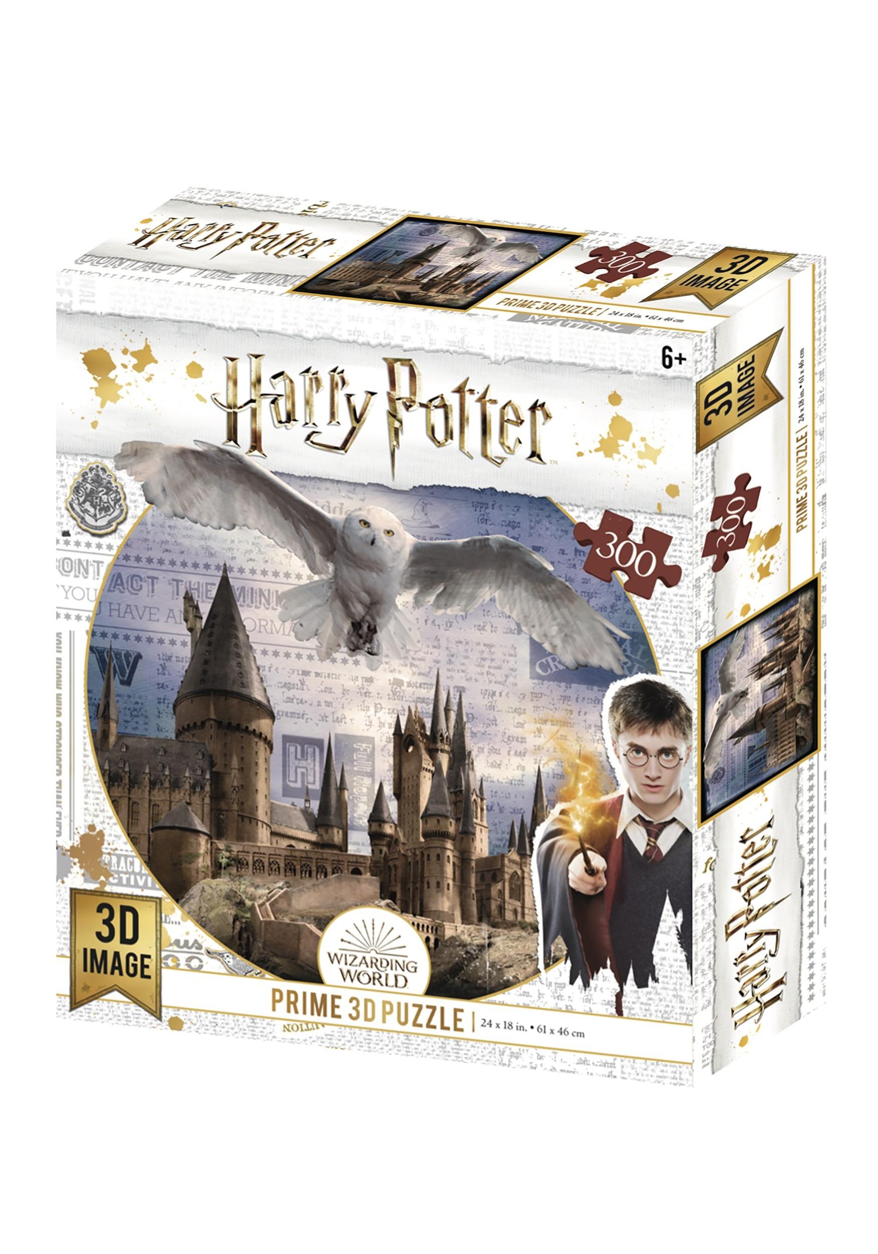 Harry Potter Lenticular 3D Puzzle - Hogwarts Daytime