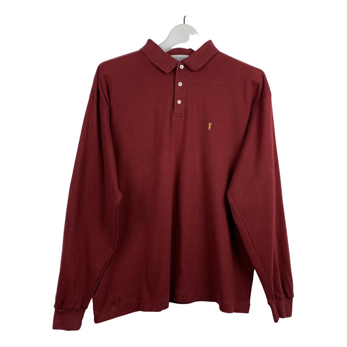 Yves Saint Laurent - Pulls.Gilets.Sweats   pour homme en coton - rouge