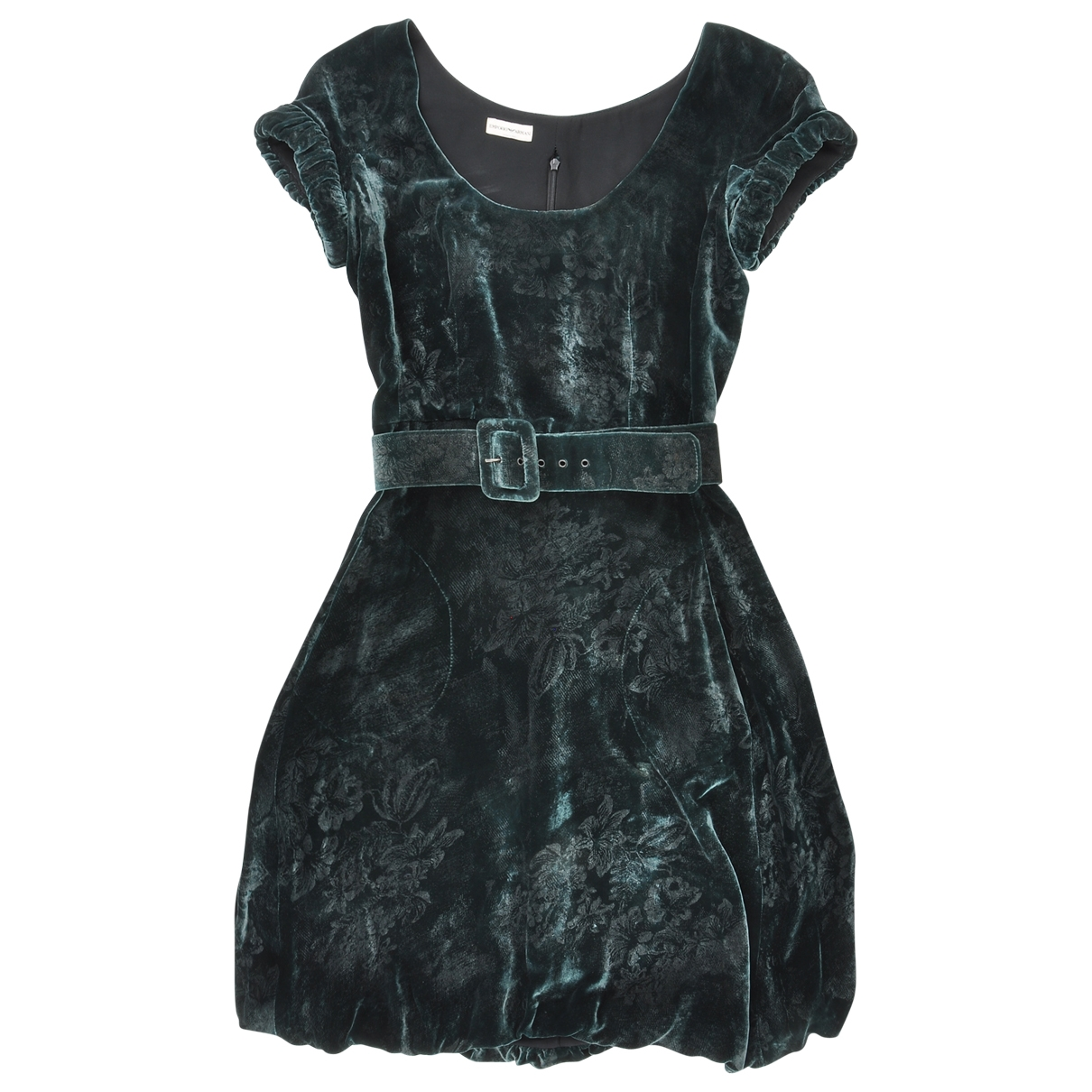 Emporio Armani - Robe   pour femme en velours - vert