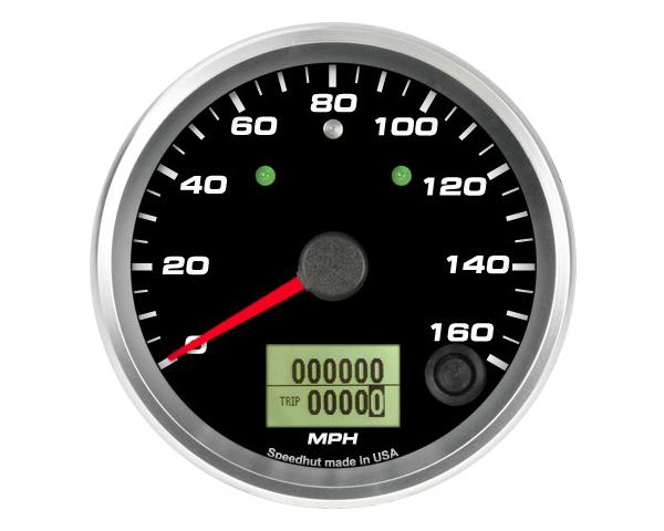 SpeedHut GR338-SPEEDO-03T Speedometer Gauge 160mph Programmable | with Turn Signal and High Beam