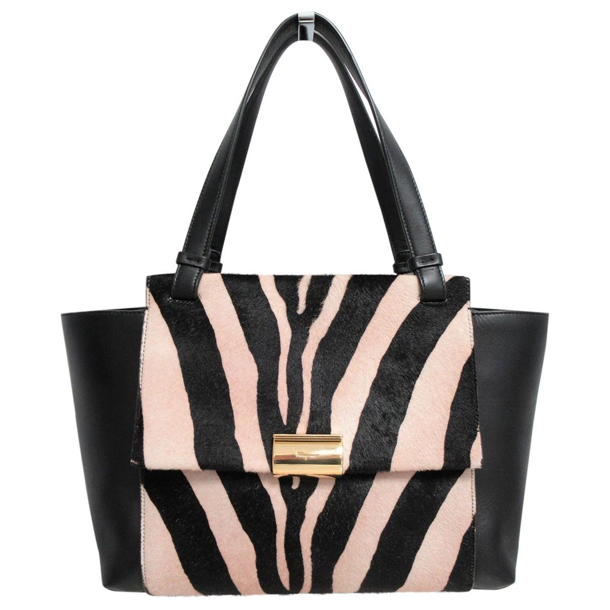 Salvatore Ferragamo \N Black Pony-style calfskin handbag for Women \N
