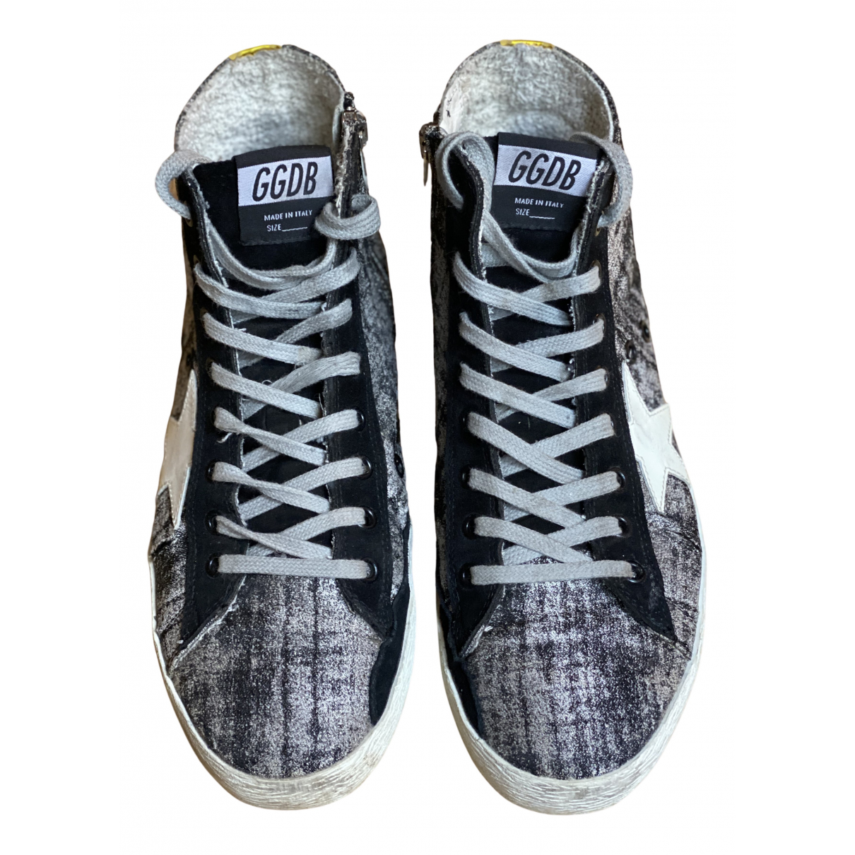 Golden Goose Francy Black Cloth Trainers for Women 40 EU