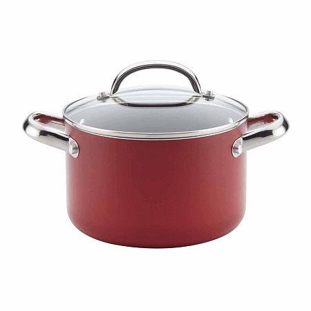 Farberware Aluminum Non-Stick Stockpot, One Size , Red