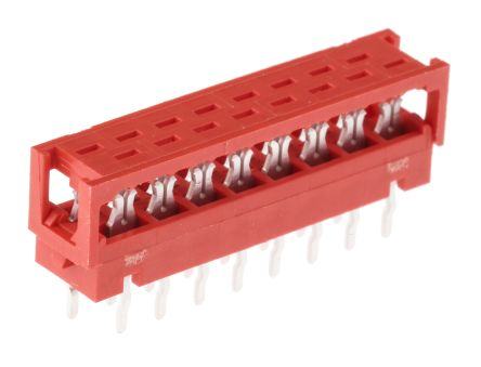 TE Connectivity 16-Way IDC Connector Plug for Cable Mount, 2-Row (5)