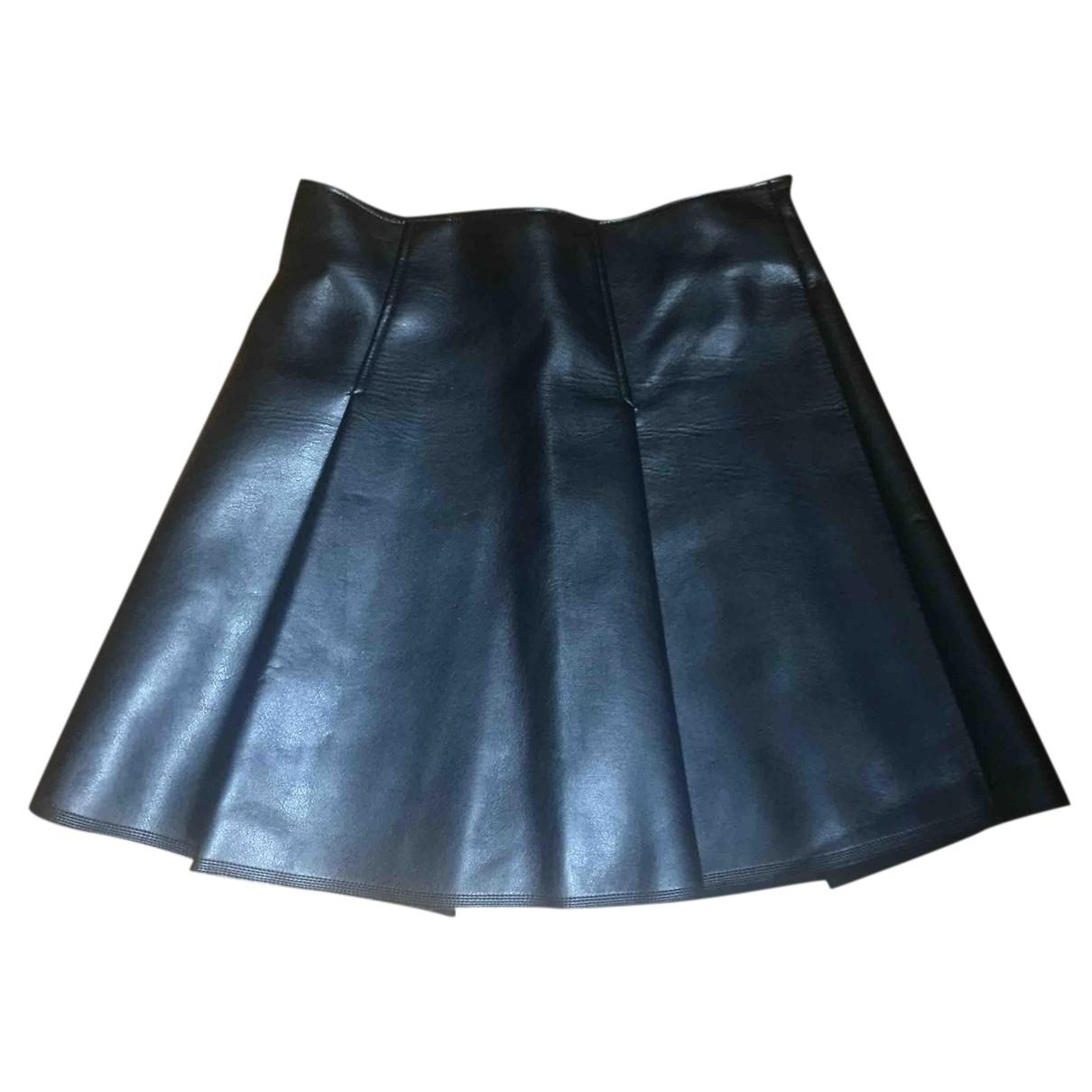 Autre Marque - Jupe   pour femme en cuir - noir